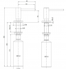 Reginox inbouw zeepdispenser volledig RVS  voor bladmontage navulbaar via bovenkant 1208953365