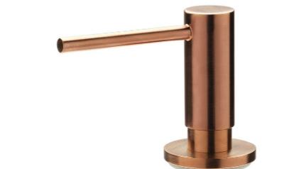 Reginox inbouw zeepdispenser PVD Copper voor bladmontage navulbaar via bovenkant 1208953368