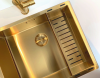 Luxe rvs 1,5 anderhalve spoelbak gootsteen PVD Gold goud 3415cm 1208953417