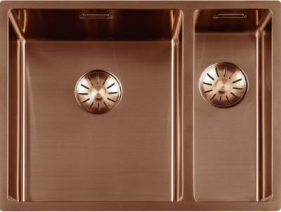 Luxe rvs 1,5 anderhalve spoelbak gootsteen PVD Koper Copper 3415cm 1208953418