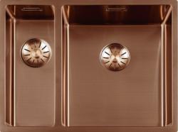 Luxe rvs 1,5 anderhalve spoelbak gootsteen PVD Koper Copper 1534cm 1208953420