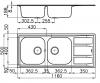 Foster Marine RVS 316 dubbele spoelbak met adruipgedeelte opbouw 1208953556