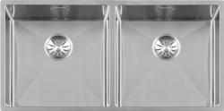 Lorreine Luxe rvs dubbele spoelbak 4040 cm vlakbouw onderbouw en opbouw 1208953616