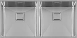 Lorreine Exclusive rvs dubbele spoelbak 4040 cm vlakbouw onderbouw en opbouw 1208953617