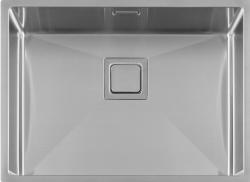 Lorreine Exclusive rvs spoelbak 55x40 cm vlakbouw onderbouw en opbouw 1208953619