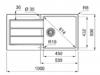 Franke Sirius 2 S2D 611 kunstof  spoelbak met afdruip wit opbouw 100x50 1208953709