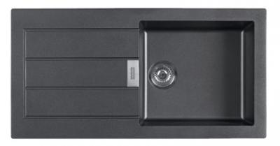 Franke Sirius 2 S2D 611 kunstof  spoelbak met afdruip zwart opbouw 100x50 1208953710