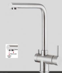 Foster geborsteld RVS 316 Keukenkraan met gefilterd water aansluiting 3-weg 1208953721