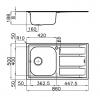 Foster Marine RVS 316  spoelbak omkeerbaar met adruipgedeelte opbouw 1208953725