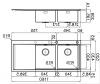 Foster Mythos dubbele RVS spoelbak met afdruip vlakbouw en opbouw 116x52 bak rechts 1208953729