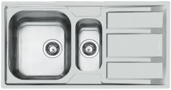 Foster Marine RVS 316 anderhalve 1,5 spoelbak omkeerbaar met adruipgedeelte opbouw 1208953744