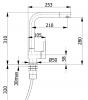Ausmann Minta mat zwarte keukenkraan met draaibare uitloop 1208953747