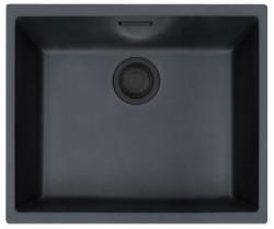 Ausmann Black kunstof zwarte spoelbak 50x41cm onderbouw 1208953777