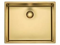 Reginox New York PVD comfort RVS spoelbak goud PVD Gold 50x40 vlakbouw onderbouw en opbouw 1208953783