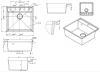ACTIE Combinatie set Minta mat zwarte keukenkraan met Granitemy mat zwarte spoelbak 1208953884