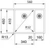 Franke Bolero plus R12 BXX 260 BL 1,5 anderhalve rvs spoelbak onderbouw vlakinbouw en opbouw 1208953939