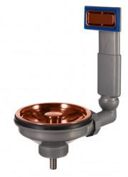 Lorreine spoelbak Korfplugset copper koper met overloop 1208954015