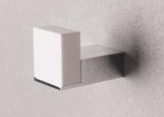 Solid S handdoekhaak 3 x 7 x 4 cm wit mat/choom 1208832492