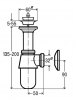 OUTLET Viega plugbekersifon chroom met rozet 5/4 x 32