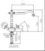 ACTIE Combinatieset nostalgische mat zwarte keukenkraan met Granitemy Tradition mat zwarte spoelbak 1208954641