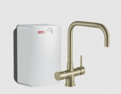 Franke Perfect3 Touch 3-in-1 Pollux Industrial Gold Combi XL 119.0558.140