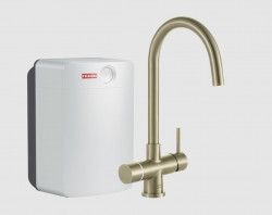 Franke Perfect3 Touch 3-in-1 Helix Industrial Gold Combi XL 119.0558.136