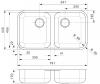 Reginox L18 35D40 KGOKG dubbele RVS Spoelbak vlakbouw B2924LLU08GDS