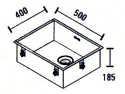 ABK Bingara 50f rvs spoelbak onderbouw KS51050002