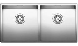 Blanco dubbele spoelbak Claron 400/400-U onderbouw 517231 nieuw