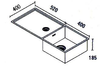Baronga 5240 spoelbak onderbouw