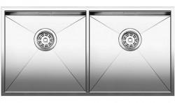 Blanco dubbele spoelbak Zerox 400/400-U onderbouw 517259 Nieuw